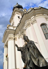 Foto op Textielframe Monument Papież Jan Paweł II - Wadowice