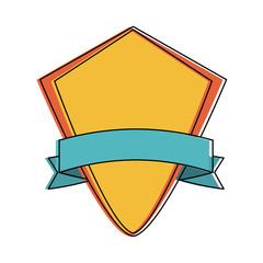 shield badge icon image vector illustration design