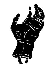 zombie hand vector symbol icon design. Beautiful illustration isolated on white background