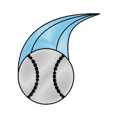 ball baseball related icon image vector illustration design