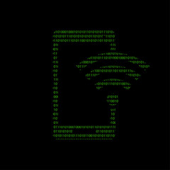 Hacker - 101011010 Icon - Smartphone WLAN