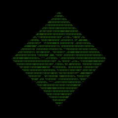 Hacker - 101011010 Icon - Puzzleteil