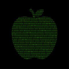 Hacker - 101011010 Icon - Apfel - Obst