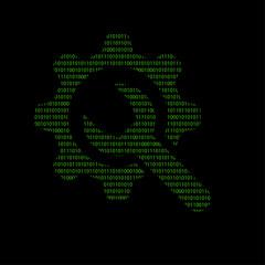 Hacker - 101011010 Icon - Schraubenschlüssel mit Zahnrad