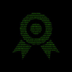 Hacker - 101011010 Icon - Medaille