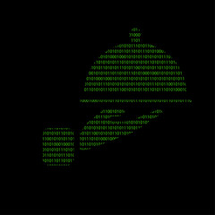Hacker - 101011010 Icon - Servierplatte