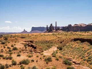 Three Sisters, Monument Valley - Arizona, AZ, USA