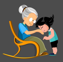 kid and granmother