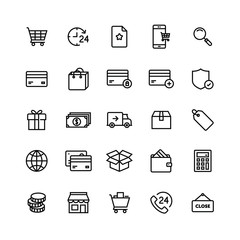E-commerce Shop On-line Icon Set