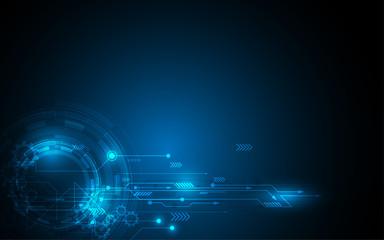 Abstract technology background Hi-tech communication concept futuristic digital innovation background vector illustration