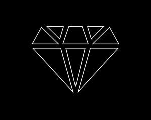 diamond thin line icon illustration design