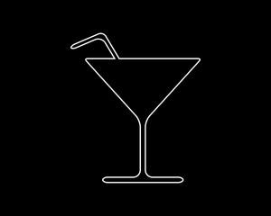 drink thin line icon illustration design