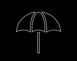 umbrella thin line icon illustration design