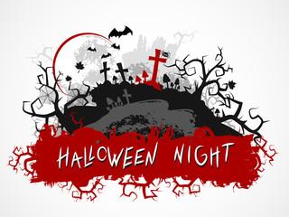 Vector grunge Halloween illustration.