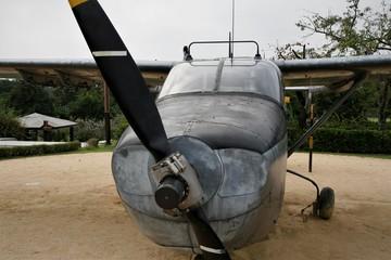 korea air force liaison airplane in Borame Park