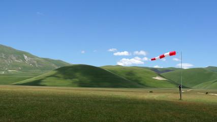 Indicatore del vento sui Monti Sibillini
