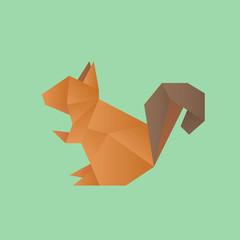 Origami animal vector icon