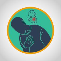 Coronary Artery Disease vector icon illustration