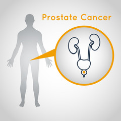 Prostate Cancer vector logo icon illustration