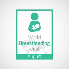 World Breast feeding Week vector icon illustration
