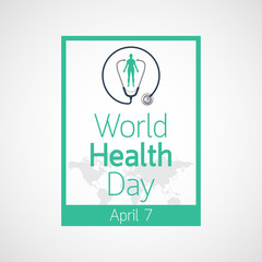 World Health Day vector icon illustration