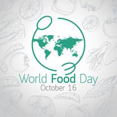 World Food Day vector icon illustration