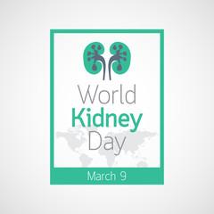 World Kidney Day vector icon illustration