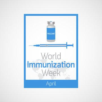 World Immunization Week vector icon illustration
