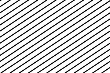 Stripes diagonal seamless pattern, texture. White on black. Vector illustration.
