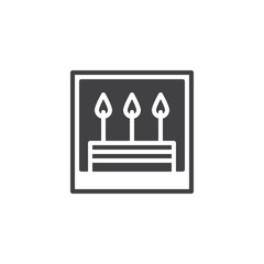 Cake picture icon vector, filled flat sign, solid pictogram isolated on white. Symbol, logo illustration.