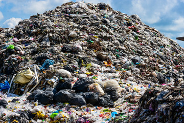 Mountain garbage in developing countries South East Asia