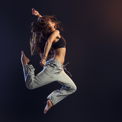 Young dancer performing