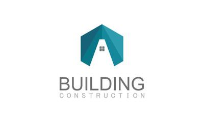 Polygon building construction logo