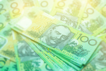 Australian banknotes Background.