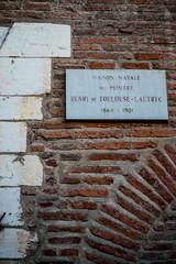 La maison natale du peintre Toulouse-Lautrec à Albi