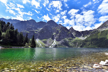 Lake Morskie Oko (Eye of the Sea), Zakopane, Carpathian Mountains, Poland