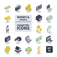 Simple Set of Money and Finance Icons.