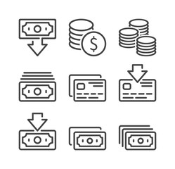 Money and Finance icon set.