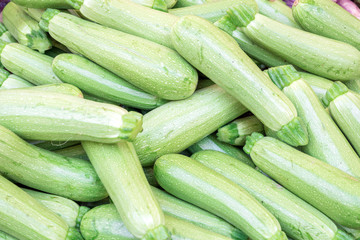 Food background with ripe zucchini