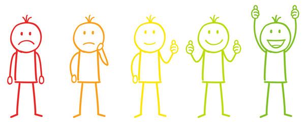 Figuren in Farbe für Bewertung
