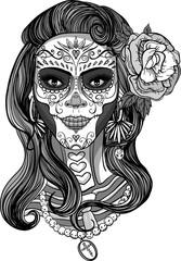 sugar skull lady