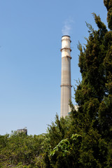Industrial chimney stack