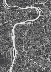 Prague city plan, detailed vector map