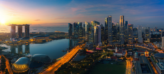 Photo sur Toile Singapoure Cityscape of Singapore city