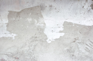 Old gray background texture of plaster. Worn texture of cement concrete wall. Abstract banner with copy space.