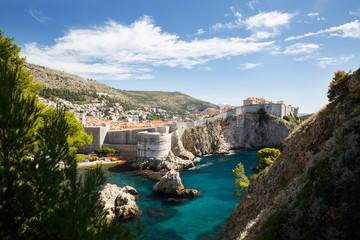 West Bay and city walls. Dubrovnik, Croatia