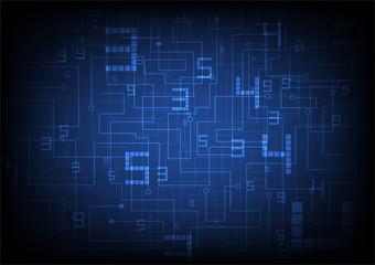 technology background, digital data concept vector illustration