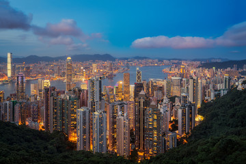 Hong kong view point from top of victoria peak