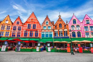 Foto op Aluminium Brugge Grote Markt square in Brugge