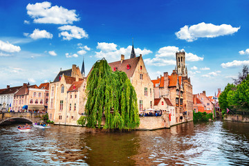Photo sur Aluminium Bruges Quai of the Rosary in Bruges, Belgium